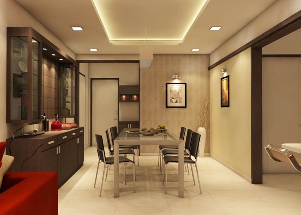 Interior Design Dining Room Ideas Part - 45: Apartment At Ajmera Infinity: Modern Dining Room By ACE INTERIORS