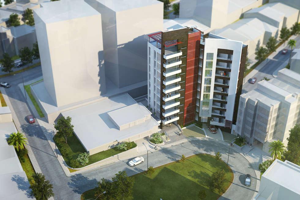 Cámara Aérea del proyecto: Casas de estilo moderno por MIES GROUP