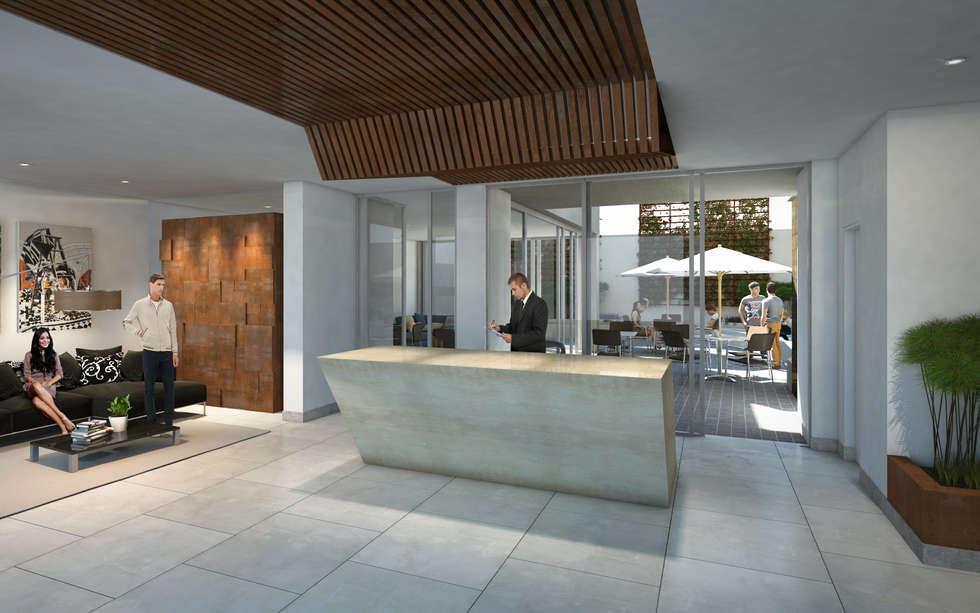 Lobby: Salas de estilo minimalista por MIES GROUP