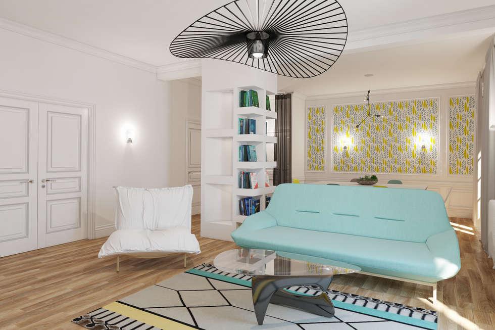 salon douillet: Salon de style de style Moderne par Agence KP