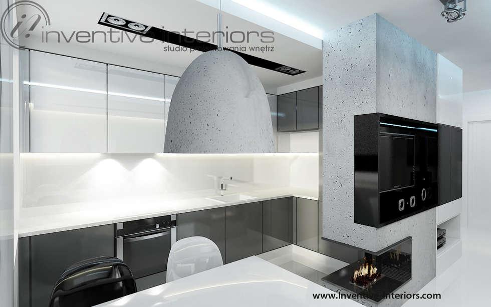 Zdjęcia kuchnia, biało szara kuchnia  homify
