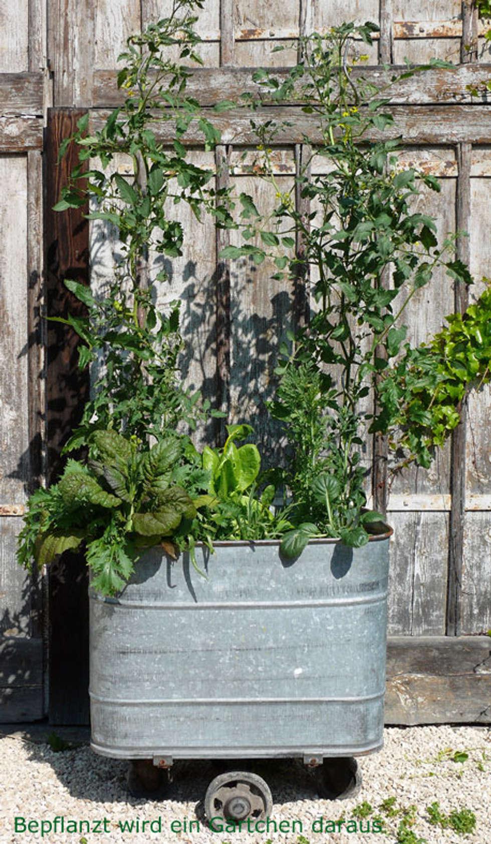 Blickfang Blickfang Alte Zeiten Dekoration Von Upcycling Für Den Garten: Ausgefallener Garten Von