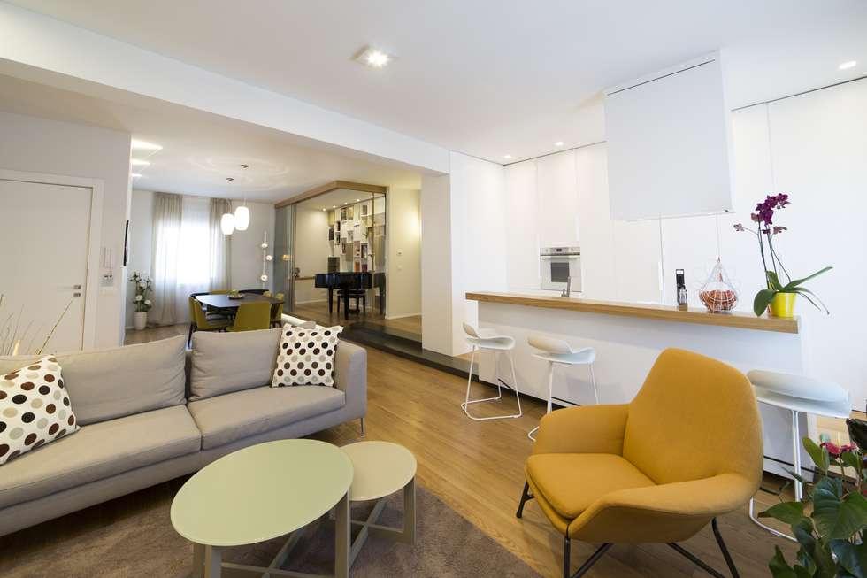 Appartamento da sogno in citta soggiorno in stile in stile