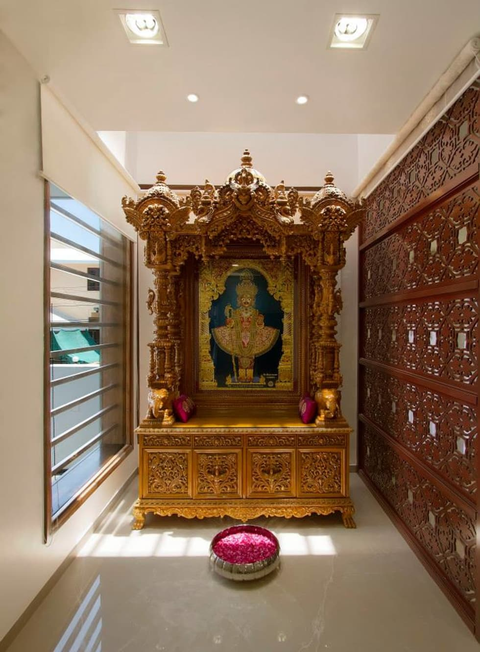 Mandir Designs In Living Room 10 Best Pooja Room Designs For Harmony And Energy