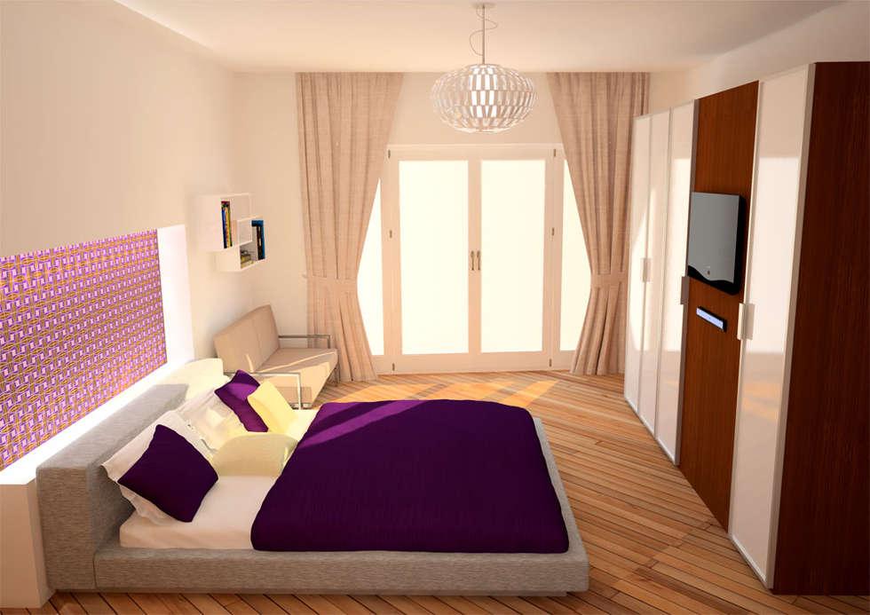 CASA L&A: Camera da letto in stile in stile Moderno di Architetto  Libero Professionista