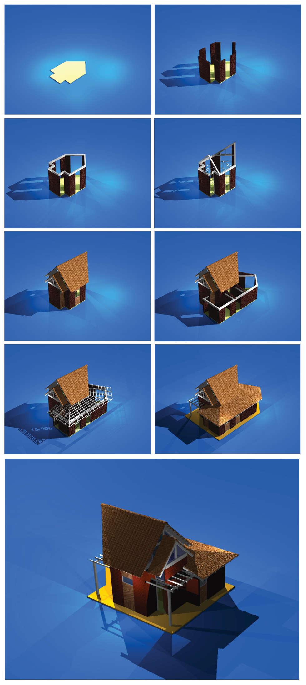 PROCESO CONSTRUCTIVO: Casas de estilo moderno por Jaime Alzérreca Pérez