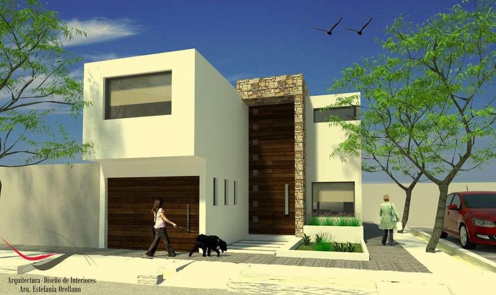 Proyecto AB: Casas de estilo moderno por Arq-Diseño Interior