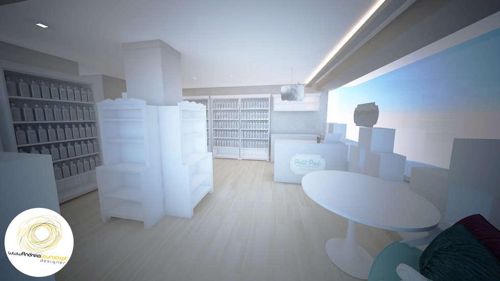 Entrada: Lojas e espaços comerciais  por Andreia Louraço - Designer de Interiores (Contacto: atelier.andreialouraco@gmail.com)