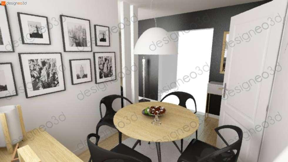 Vue de la salle à manger: Salle à manger de style de style Moderne par RAAB Architecture