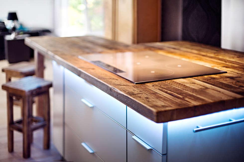 neue arbeitsplatte rustikale k che von edictum unikat mobiliar homify. Black Bedroom Furniture Sets. Home Design Ideas