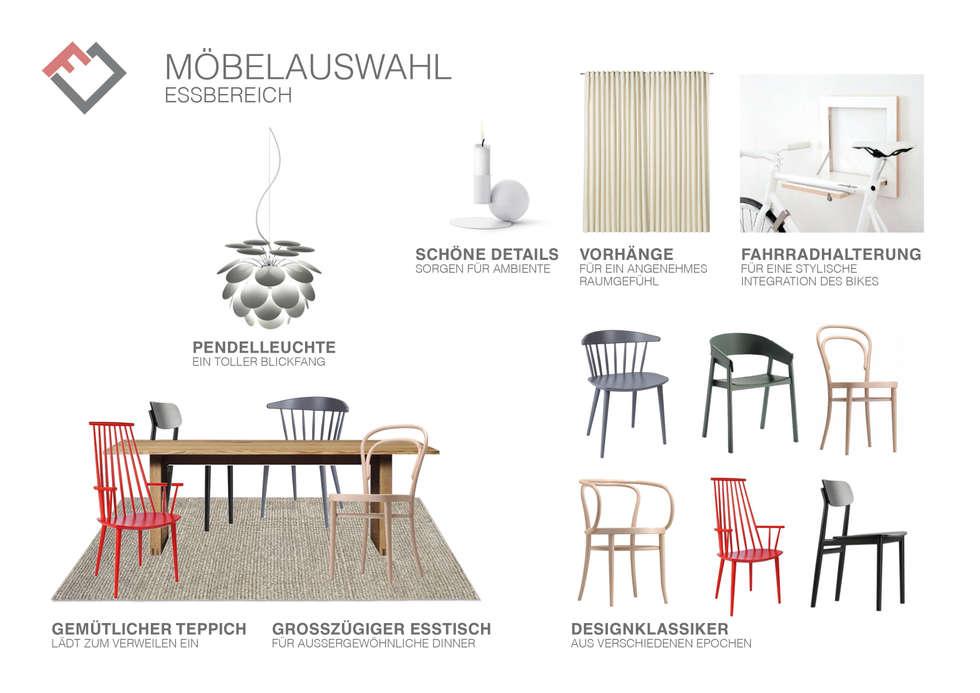 Möbelplanung: Essbereich Mit Stuhl Mix: Skandinavische Esszimmer Von  Furnitects GmbH