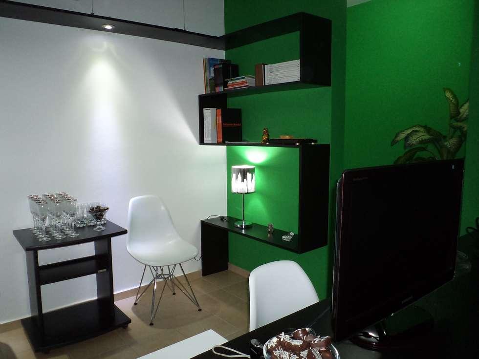 INTERIOR ESTUDIO BS ARQUITECTAS: Estudios y oficinas de estilo moderno por BS arquitectas - Beltramo + Scantamburlo