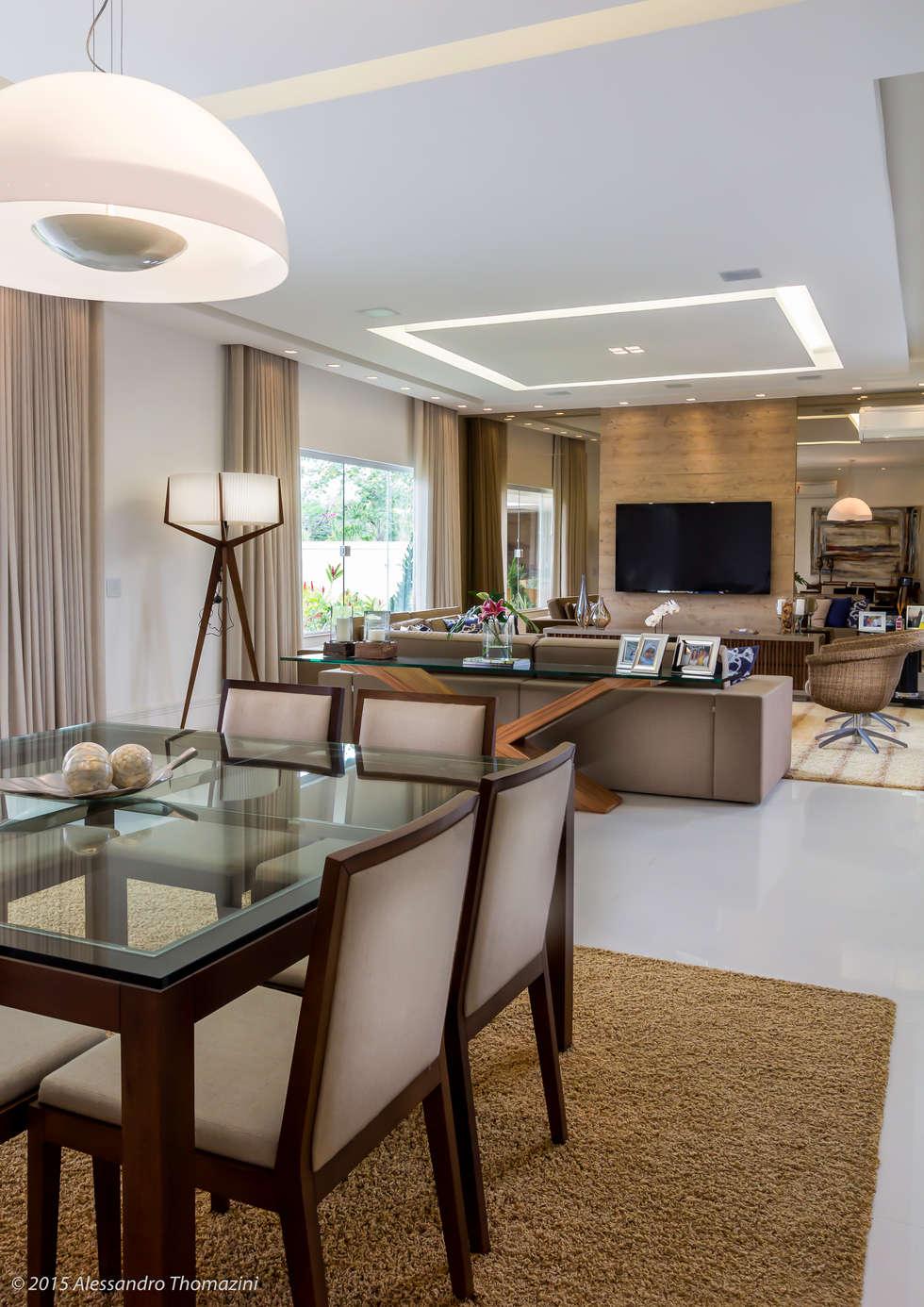 Sala de jantar salas de jantar modernas por adriana leal for Interiores de salas modernas