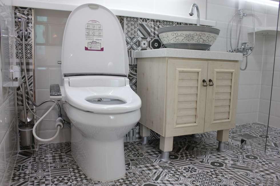 관저동 신선마을아파트 38평형 Before & After : 더홈인테리어의  화장실