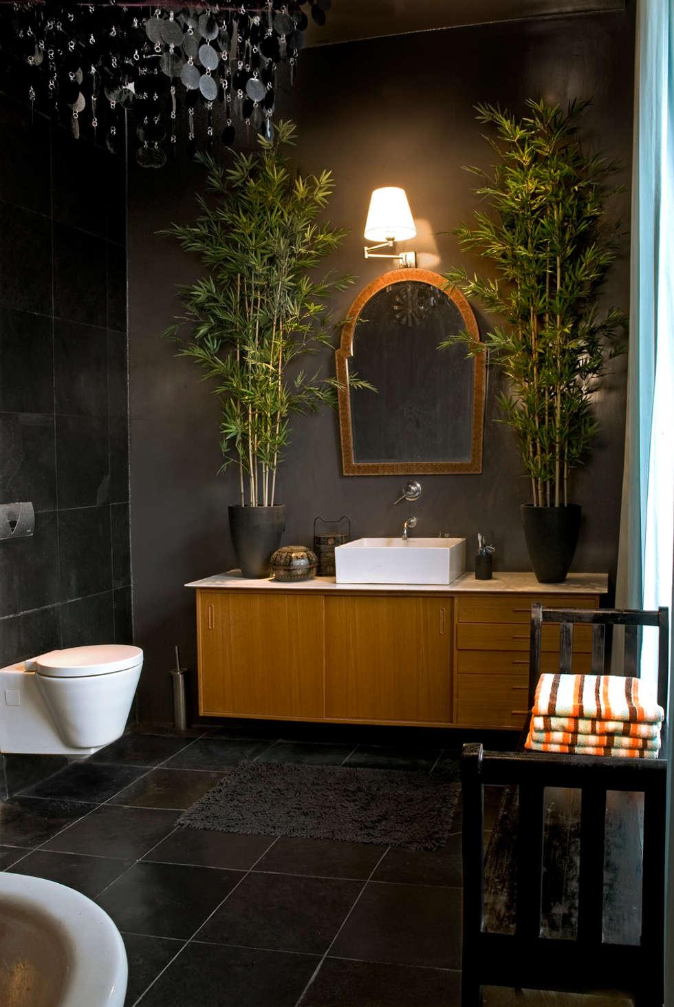 Badezimmer in grau & grün: ausgefallene badezimmer von baltic design ...