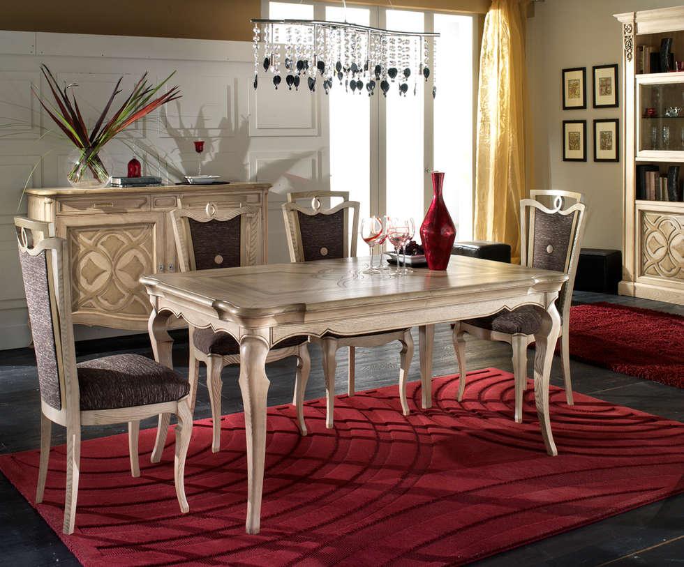 Tavolo collezione Cà Foscari F302: Sala da pranzo in stile in stile Moderno di Moletta Mobili