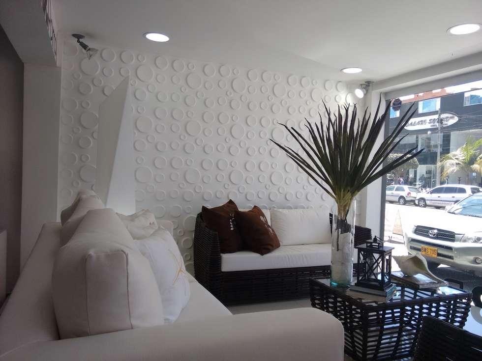 WallArt 3D, Diseño Craters, Proyectos e Innovación, Pei-sas : Oficinas y Tiendas de estilo  por comercial79