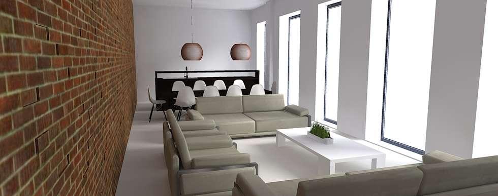 Home Staging - Interior Design - Render: Soggiorno in stile in stile Minimalista di Filippo Fiori       Architetto
