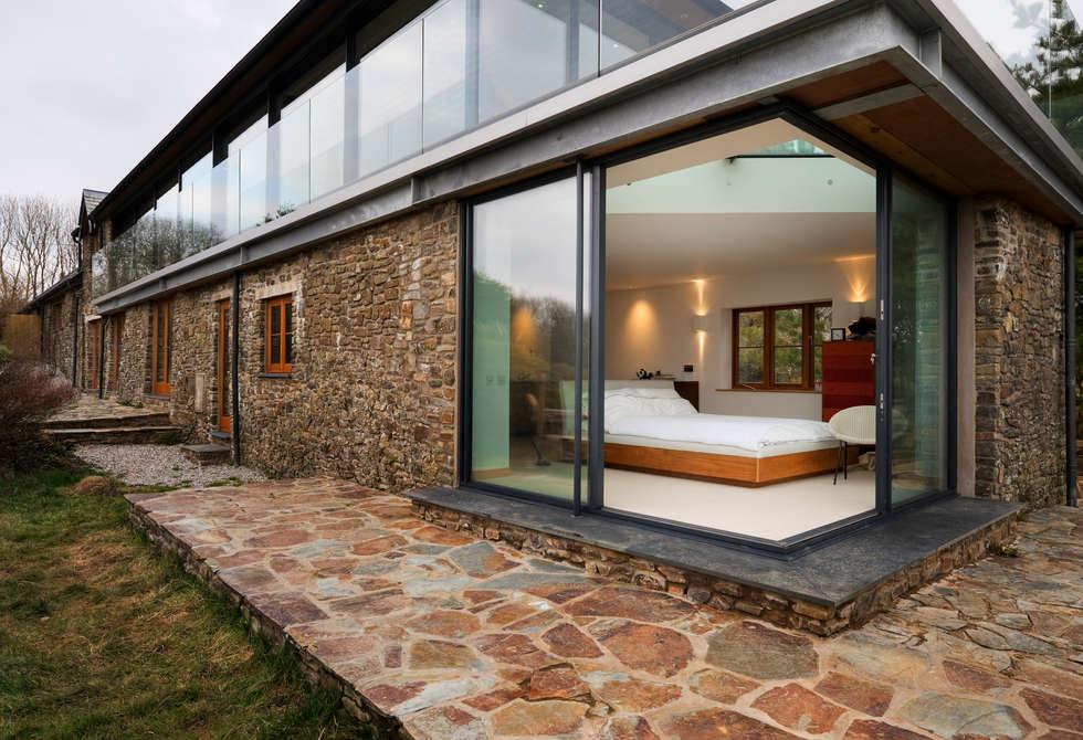 Down barton devon modern houses by trewin design for Case con facciate in pietra