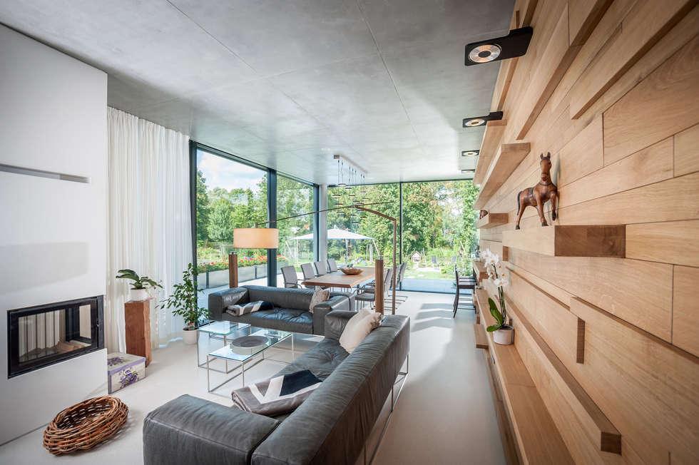 Einfamilienhaus In Brandenburg An Der Havel   Wohnraum: Moderne Wohnzimmer  Von SEHW Architektur GmbH