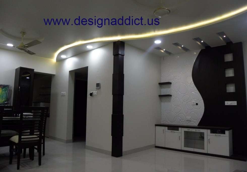 3BHK Interior Design In Pune Modern Living Room By Designaddict Interiors