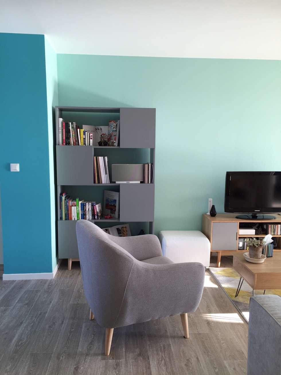 salon/séjour: Salon de style de style Scandinave par Mint Design