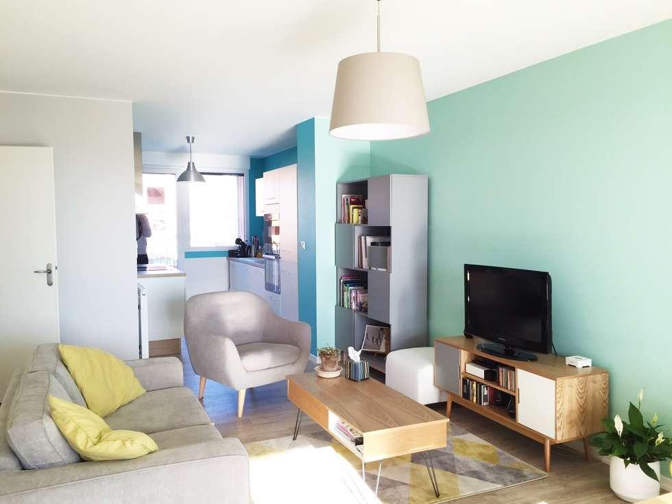 Salon: Salon de style de style Scandinave par Mint Design