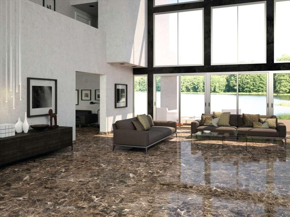 Fotos de decoraci n y dise o de interiores homify - Suelos porcelanicos imitacion marmol ...