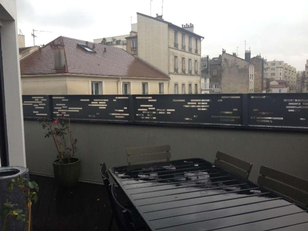 Habillage ajouré: Terrasse de style  par Fence Paris