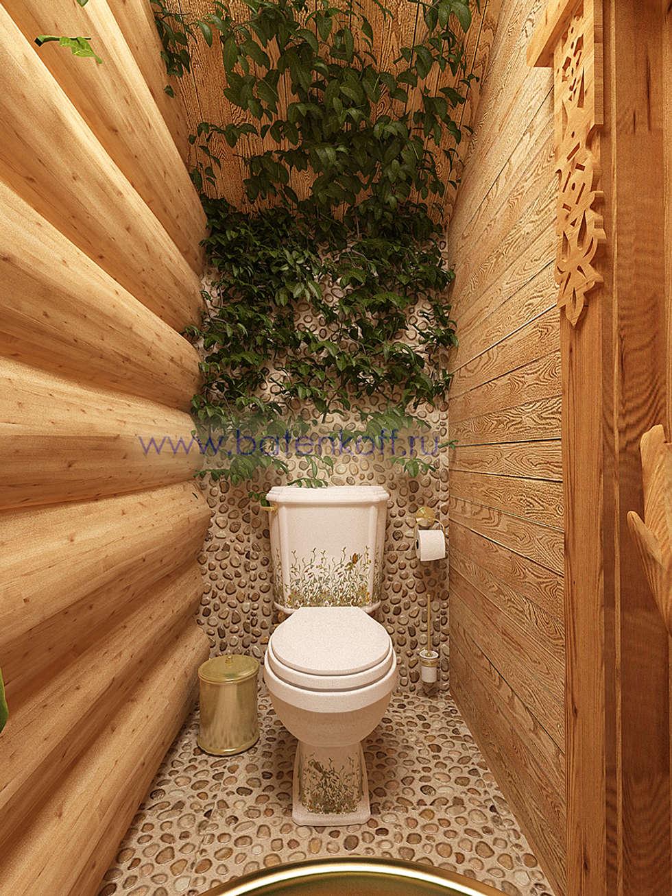 Baños de estilo rural por Дизайн студия 'Дизайнер интерьера № 1'