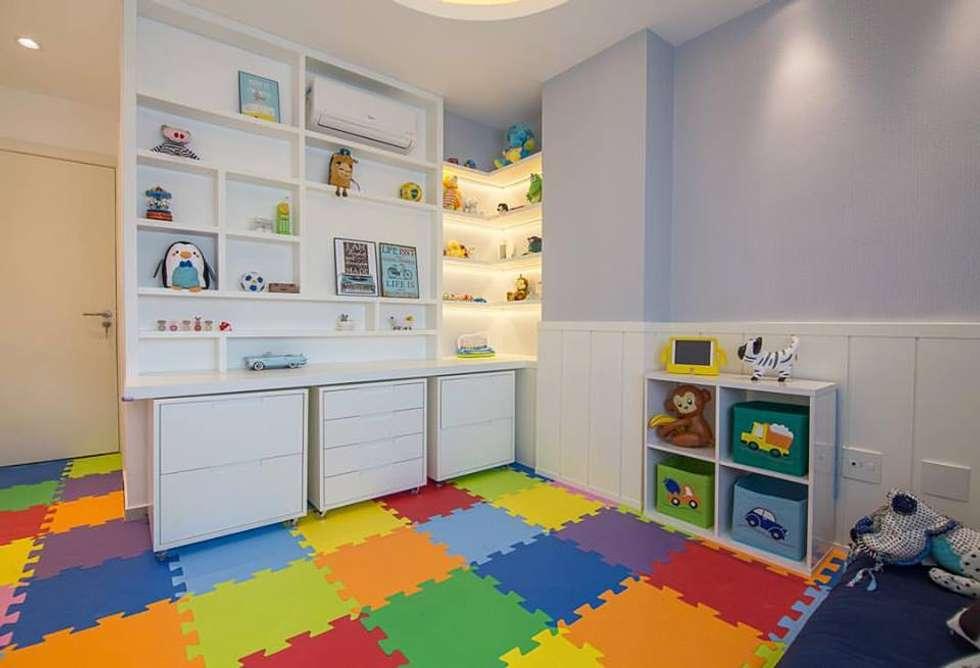 Cobertura Recreio dos Bandeirantes- RJ: Quarto infantil  por Duplex Interiores