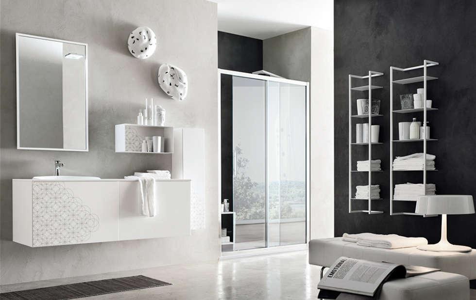 Olimpo - ARTESI: Bagno in stile in stile Moderno di Ceramiche Addeo