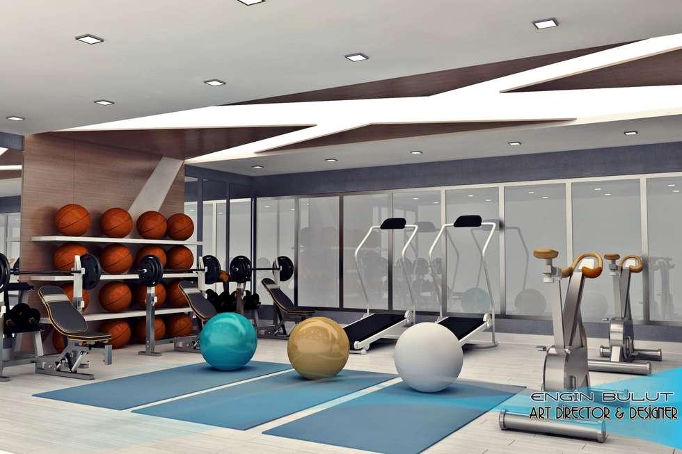Fitnessraum modern  İç Mimari Fikirleri, Yeniden Dekorasyon & Yeniden Modelleme ...