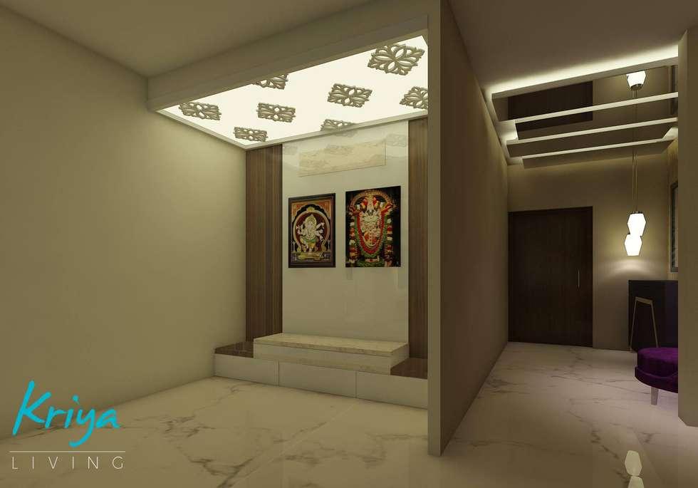 A Luxurious Apartment: modern Living room by KRIYA LIVING