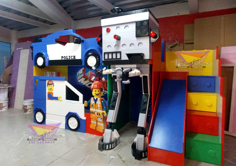 IMPRESIONANTE LITERA TIPO LEGO MOVIE: Recámaras infantiles de estilo moderno por camas y literas infantiles kids world