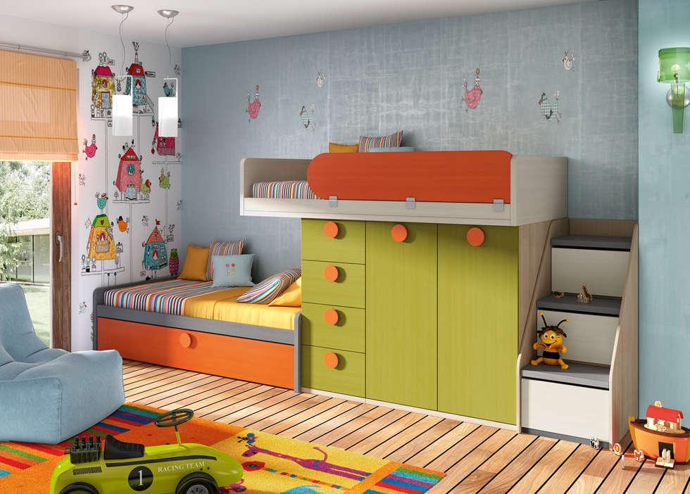 Fotos de decoraci n y dise o de interiores homify - Habitaciones infantiles merkamueble ...