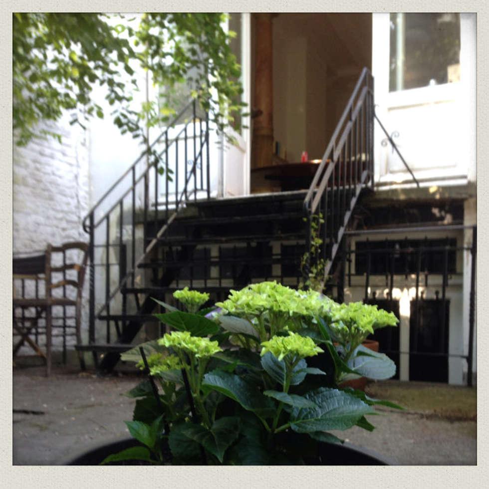 Vue de la salle à manger depuis le jardin (partie cour): Jardin de style de style Classique par Urban Garden Designer