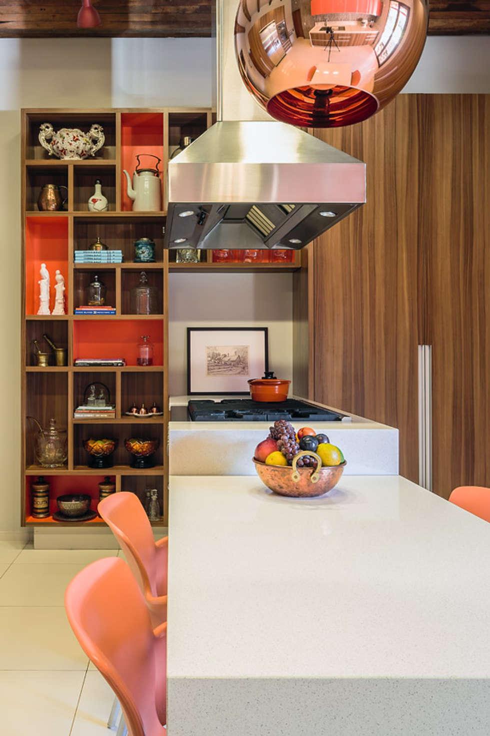 Cocinas de estilo moderno por Antônio Ferreira Junior e Mário Celso Bernardes