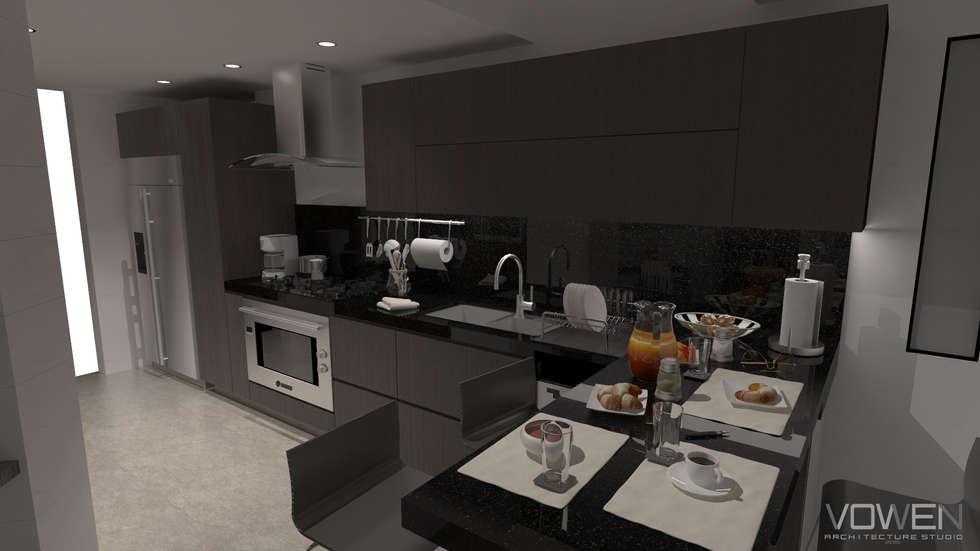 Cocina: Cocinas de estilo minimalista por Vowen