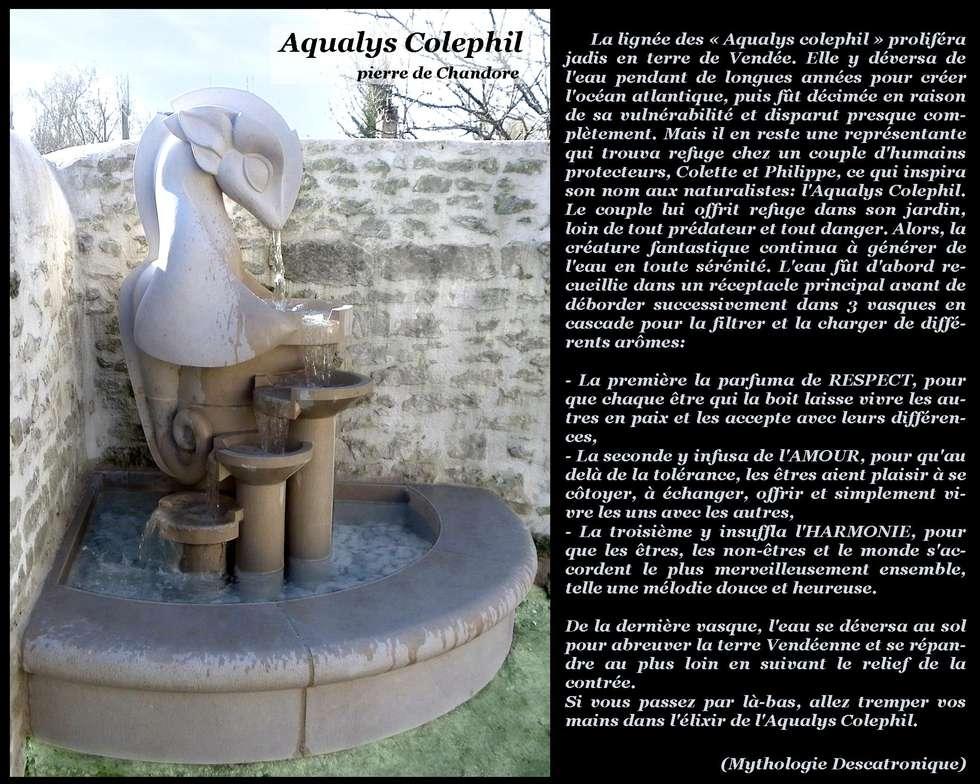 """Fontaine """"Aqualys Colephil"""": Jardin de style de style eclectique par Arlequin"""