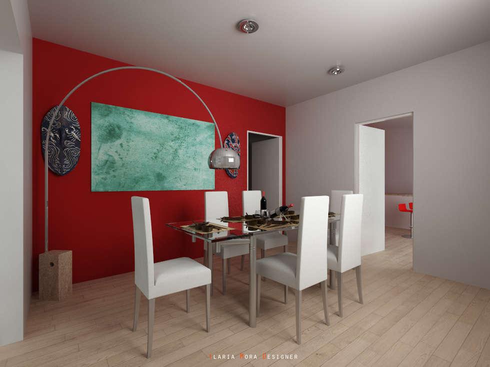 Rendering - Sala da pranzo: Sala da pranzo in stile in stile Moderno di Ilaria Mora