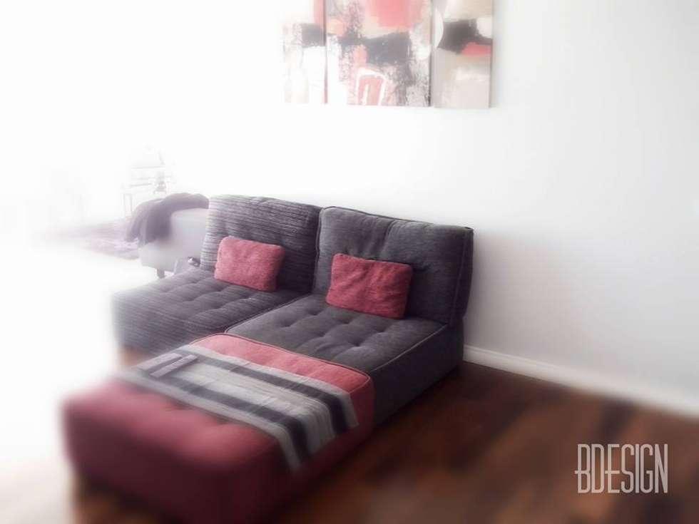 Diseño de sillón en modulos: Livings de estilo minimalista por Estudio BDesign
