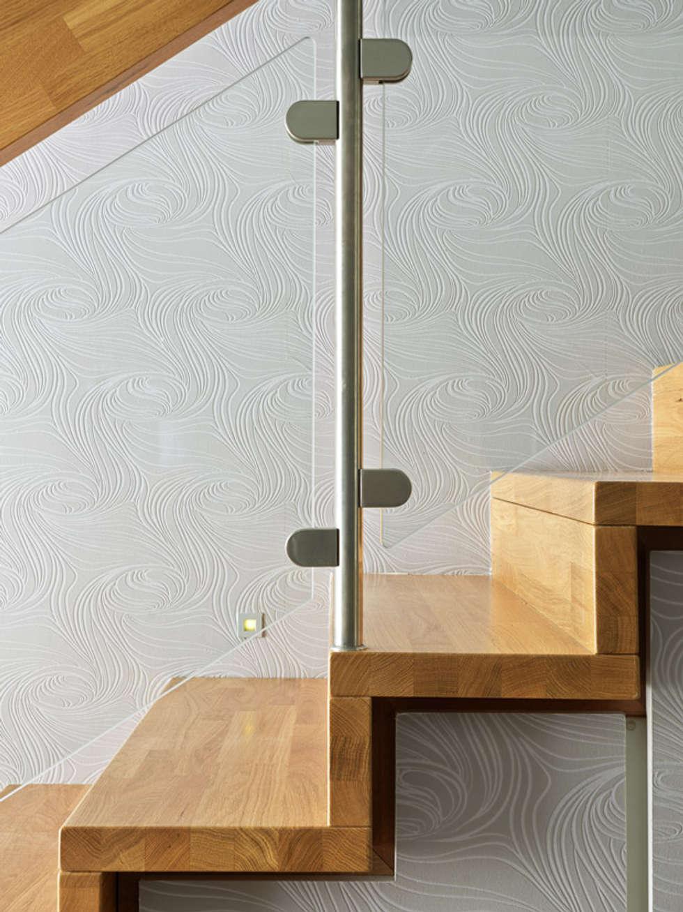 Garde-corps: Couloir et hall d'entrée de style  par Passion Bois