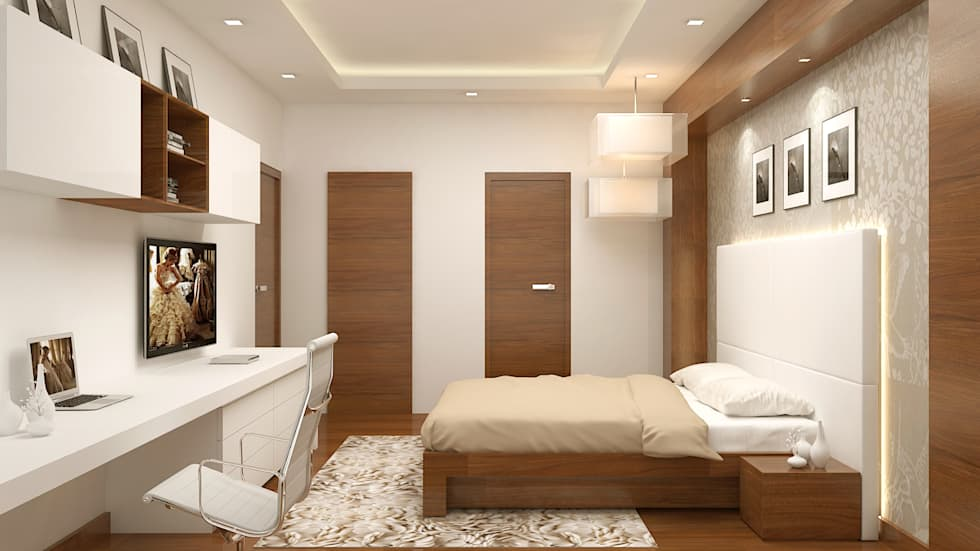 Master Bedroom-: modern Bedroom by De Panache  - Interior Architects