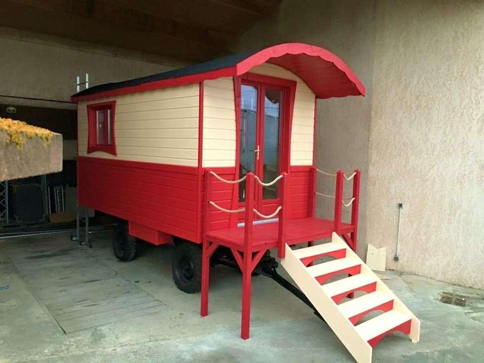Bureau roulotte: Jardin de style de style eclectique par Jardin boheme