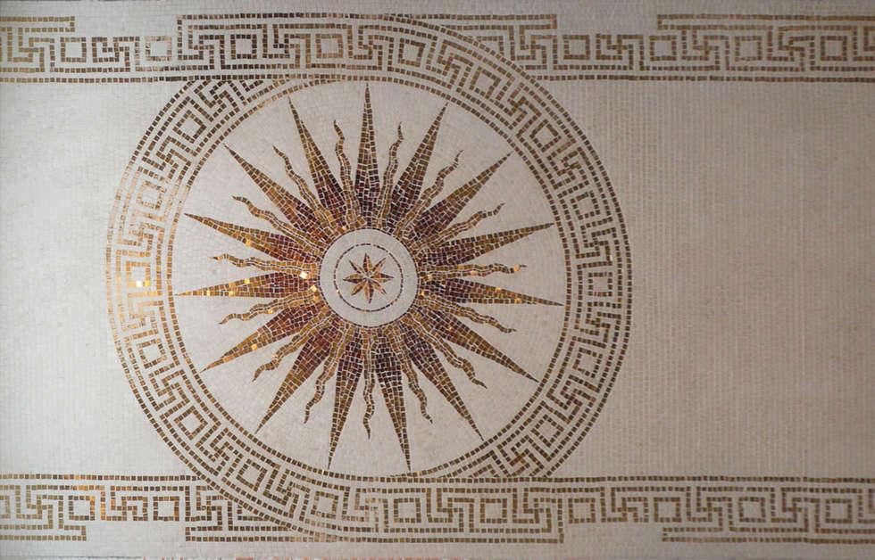 Ornamento del corridoio: Pareti in stile  di Mosaico3M
