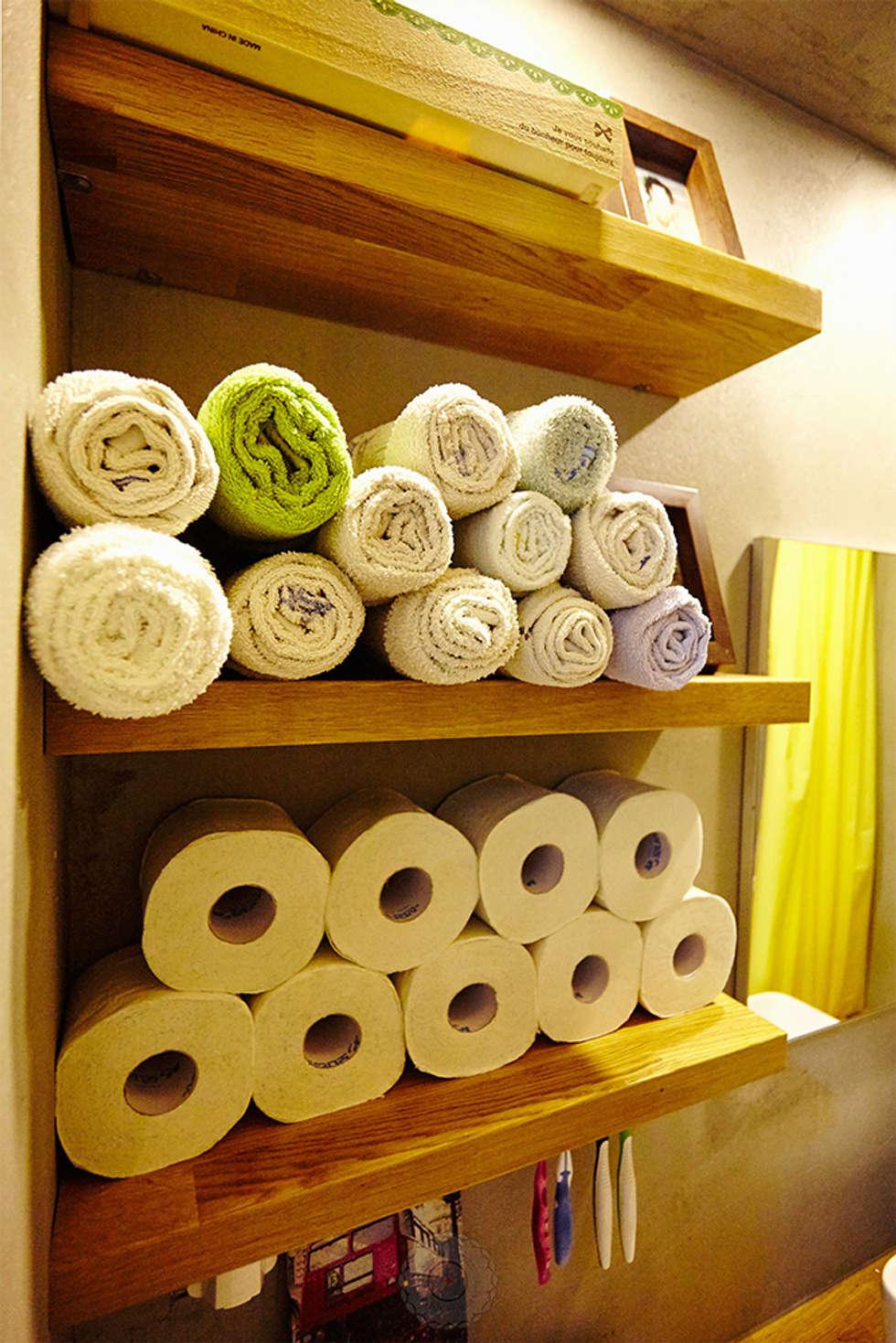 주욕실 수납선반: 제이앤예림design의  화장실