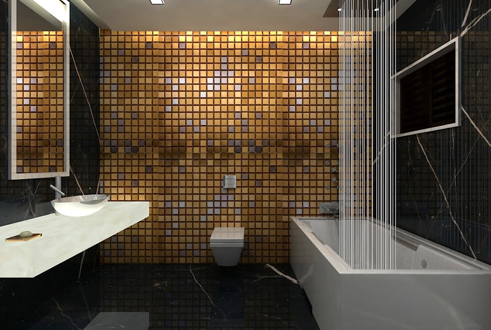 RESIDENTIAL INTERIOR, MYSORE. (www.depanache.in): modern Bathroom by Depanache Interior Architects