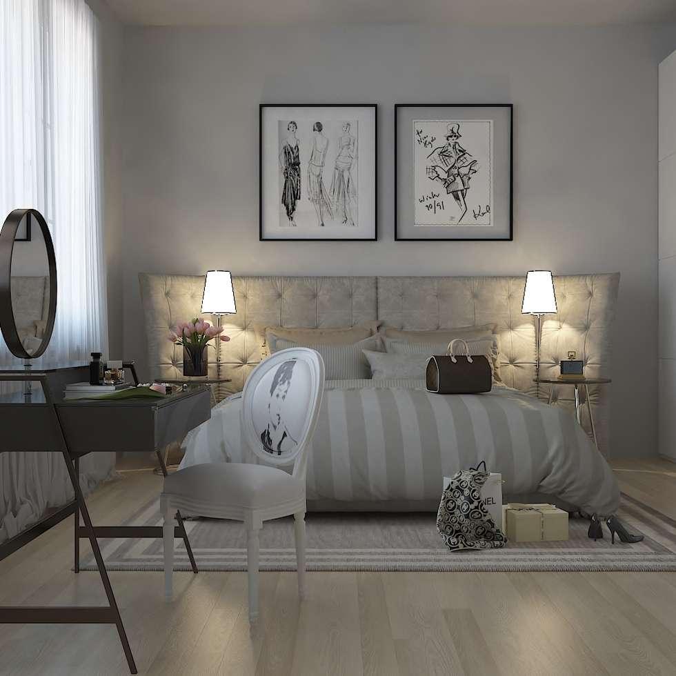 French Bedroom: Camera da letto in stile in stile Moderno di olivia Sciuto