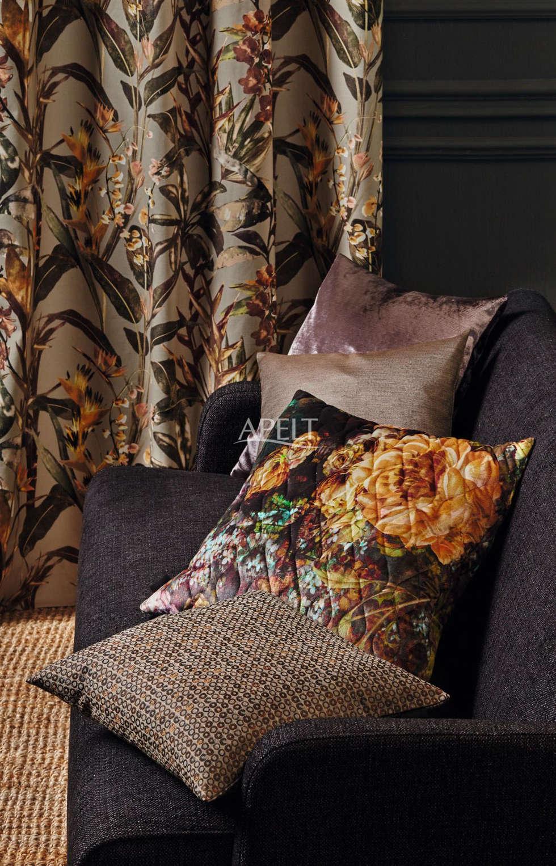 Moderne Wohnzimmer Bilder Modern Ethno Vorhang Und Kissen